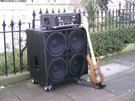 The Mark Percy 4x15 Bass Guitar Cabinet